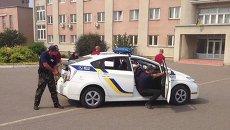 Тренировка харьковской полиции