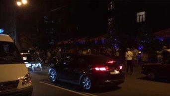 Потасовка возле кафе Гигант в Харькове