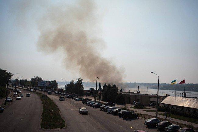 Пожар в кафе Запорожья