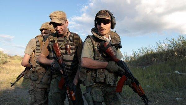 Бойцы батальона Сечь