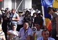Митингующие в Кишиневе разбили палаточный городок на площади. Видео