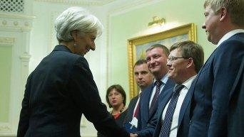 Встреча Яценюка и Лагард в Киеве