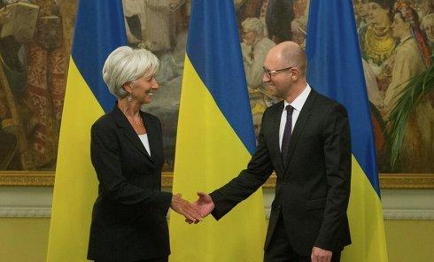Встреча Яценюка и Лагард в Киеве. Архивное фото