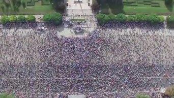Протесты в Кишиневе с высоты птичьего полета