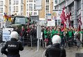 Акция протеста фермеров в Брюсселе