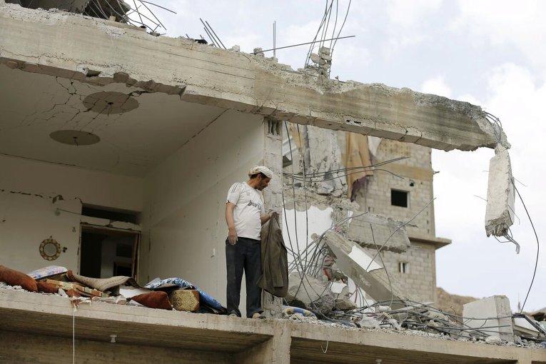 Столица Йемена Сана после авиудара коалиции
