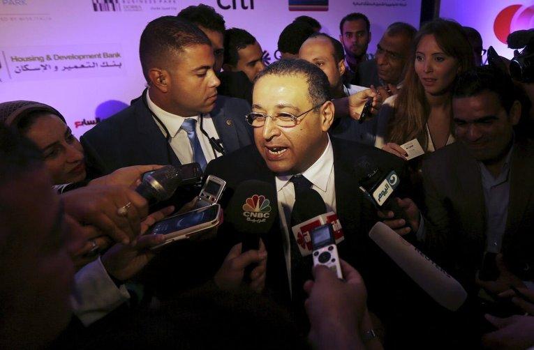 Министр по инвестициям Египта Ашраф Салман на пресс-конференции