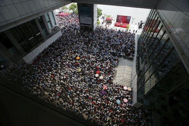 Предвыборное заседание оппозиционной Демократической партии Сингапура
