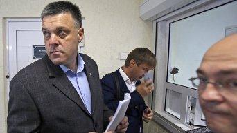 Олег Тягнибок на допросе в МВД