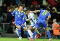 Евгений Коноплянка во время матча сборных Украины и Словакии