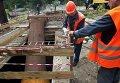 Ремонтные работы на главном самотечном канализационном коллекторе Киева