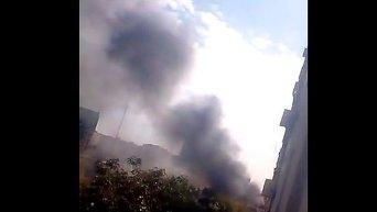 Пожар в Мариуполе. Видео