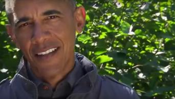 Обама съел обглоданного медведем лосося