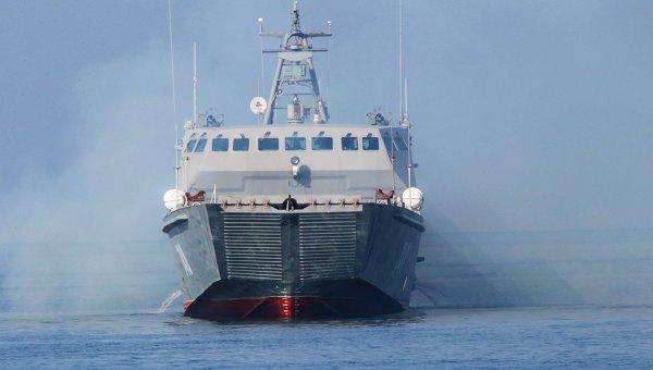 Десантный катер нового поколения Денис Давыдов на вооружении Балтийского флота. Архивное фото