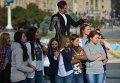 Флешмоб  в Киеве Мой Университет - территория без взяток!