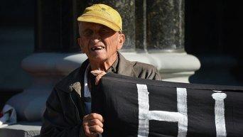 Митинг вкладчиков под Национальным банком Украины