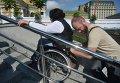 Инспектирование Почтовой площади в Киеве на вопрос доступности для инвалидов