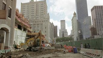 Место взрыва Всемирного Торгового центра в Нью-Йорке. Архивное фото
