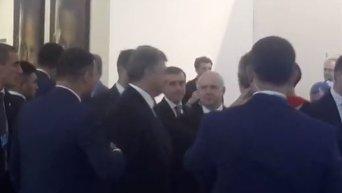 Петр Порошенко в кулуарах форума YES
