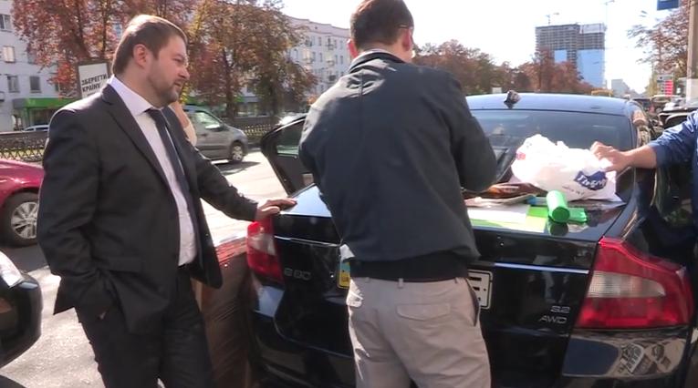 На месте задержания главы Госслужбы занятости в Киеве