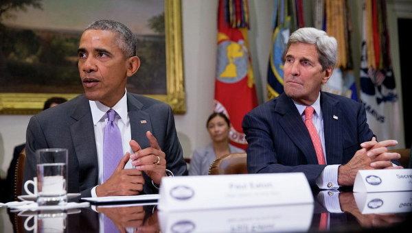 Президент США Барак Обама и госсекретарь Джон Керри