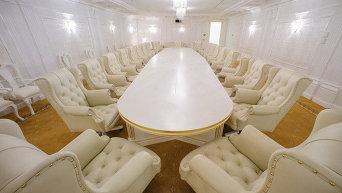 Конференц-зал Premier в Президент-отеле в Минске, где проходят заседания контактной группы по Украине