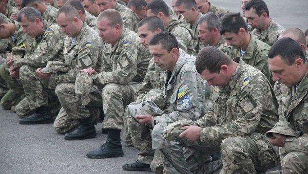 Бойцы Национальной гвардии Украины
