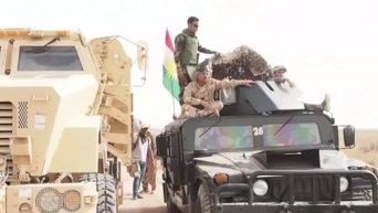 Курдские подразделения (пешмерга) теснят боевиков Иг на юге Киркука. Видео