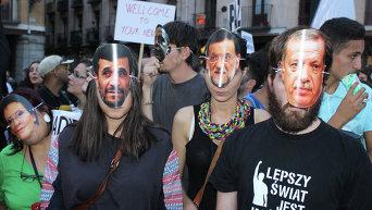 В Мадриде прошел митинг в поддержку беженцев