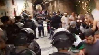 На Храмовой горе в Иерусалиме произошли столкновения. Видео