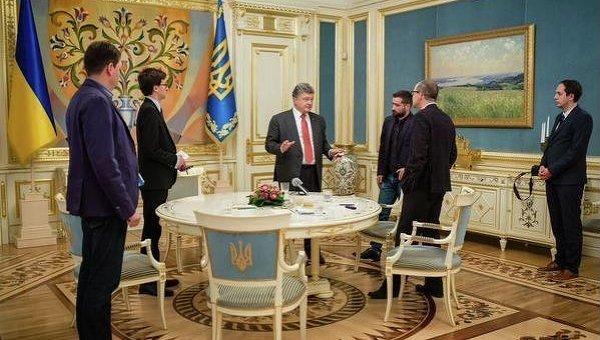 Встреча Петра Порошенко с журналистом британского издания Independent Оливером Кэрроллом