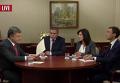 Интервью Порошенко: выборы, перемирие и демобилизация. Видео