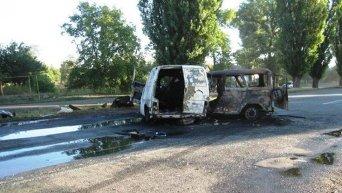 Авария в Днепропетровской области, в которой погибли два бойца Правого сектора и двое военнослужащих ВСУ
