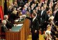 Президент Сената Нидерландов Анки Брокерс-Кноль приветствует премьер-министра страны Марка Рютте