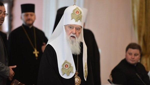 Предстоятель УПЦ Филарет на встрече Арсения Яценюка с религиозными лидерами в Киеве