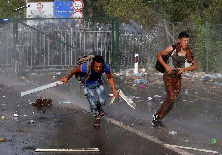 Протесты мигрантов в Венгрии