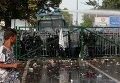 Столкновения полиции и мигрантов на границе Венгрии и Сербии
