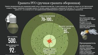 Граната РГО. Инфографика