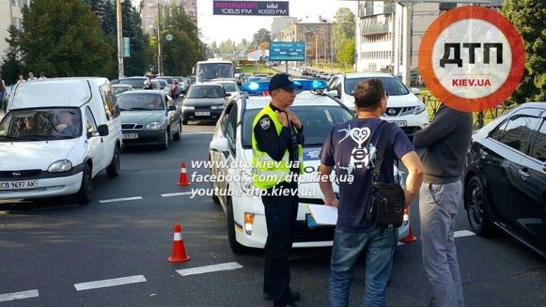 ДТП в Киеве с участием патрульных