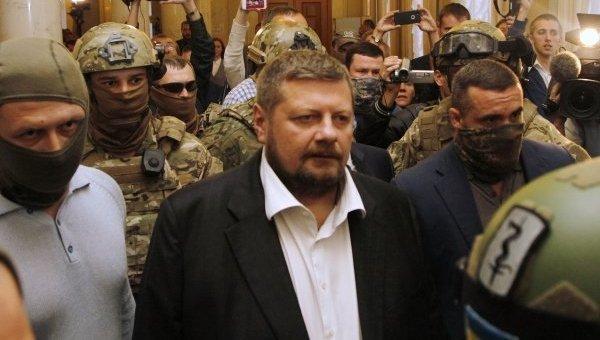 Игорь Мосийчук при задержании в Раде