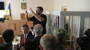 Олег Ляшко и Андрей Лозовой на заседании суда по делу Игоря Мосийчука