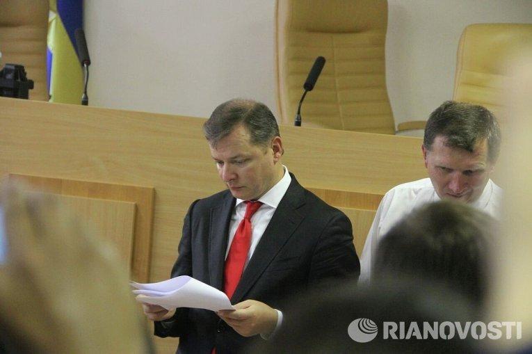 Олег Ляшко на заседании суда по делу Игоря Мосийчука