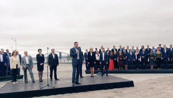Территориальная организация партии Блок Петра Порошенко Солидарность в Киеве выдвинула кандидатуру нынешнего мэра Виталия Кличко на предстоящие выборы главы столицы,