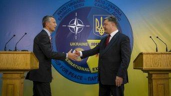 Визит генсека НАТО Йенса Столтенберга в Украину