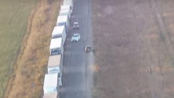 Очередь из фур на блокпостах к Крыму