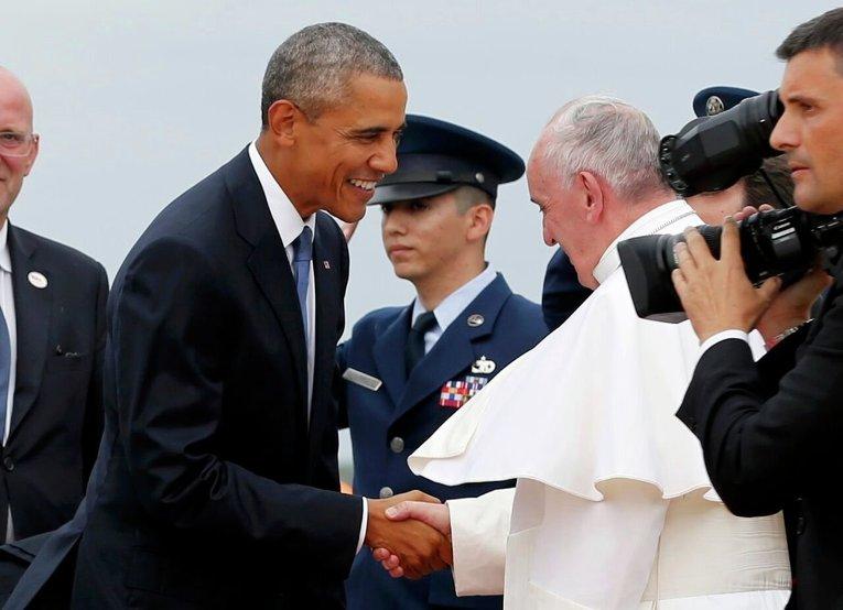 Папа Римский Франциск прибыл в США
