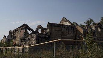 Разрушения в Донбассе