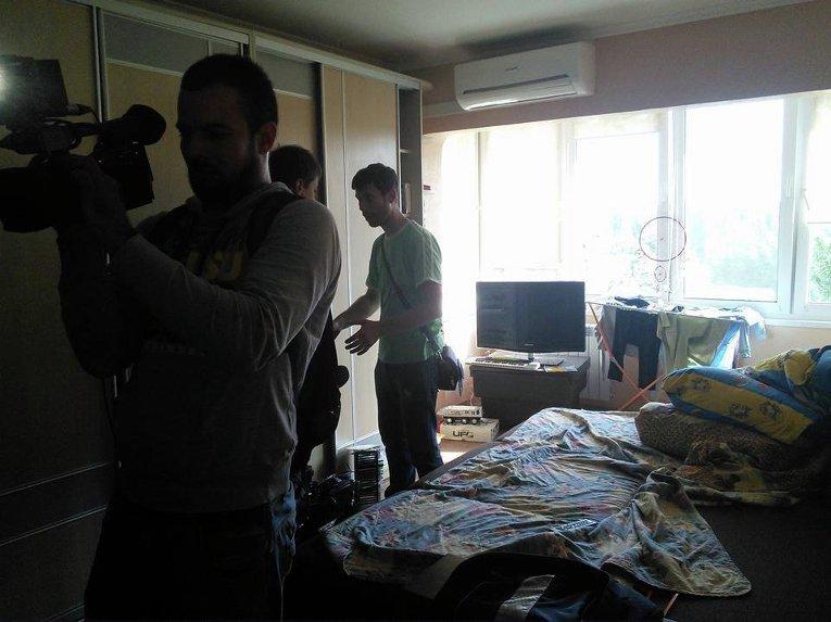 Обыск в квартире Юрия Сиротюка в Киеве