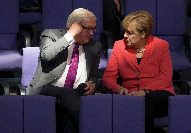 Меркель и Штайнмайер в бундестаге