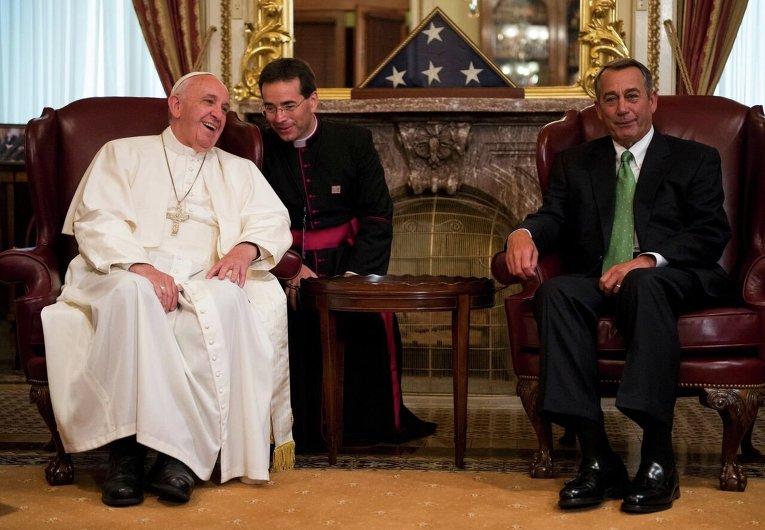 Папа Римский Франциск в конгрессе США.
